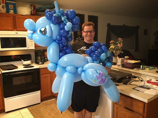 Guy Makes Insane My Little Pony Balloon Art - Brony.com | T-Shirts and Apparel for Bronies and fans of My Little Pony