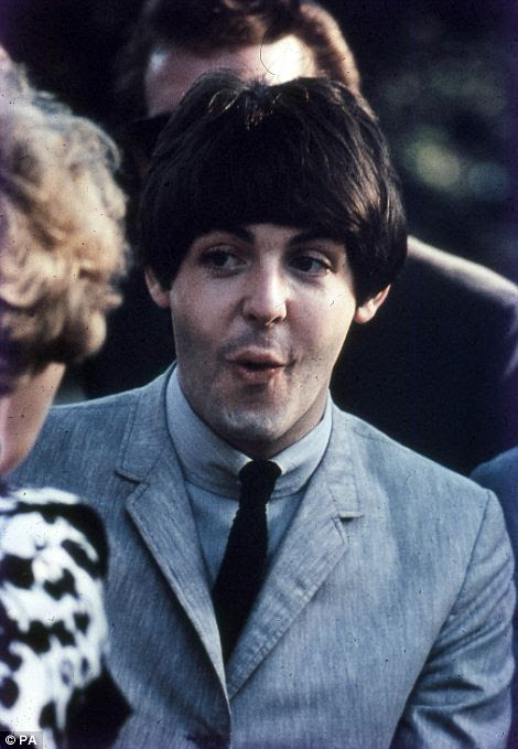 Fresh faced: Lennon (left) was only 24-years-old when the pictured tour took place, and McCartney was even younger at 22 (right)