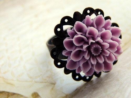 Gardenia Ring - amethyst, purple, lilac
