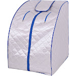 Costway Portable Far Infrared Sauna with Chair-Silver