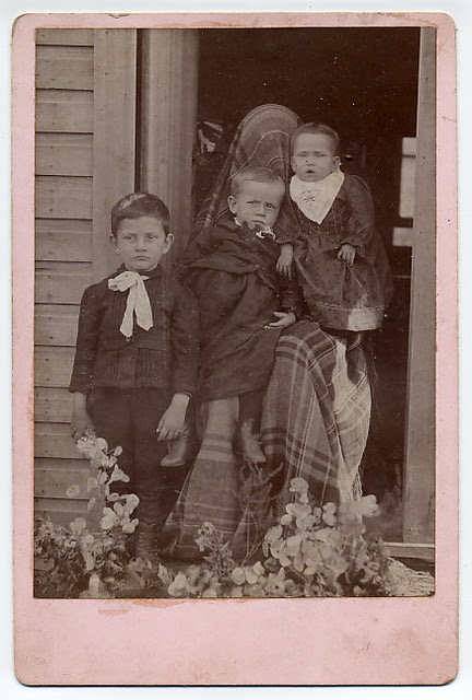 Hidden mother cabinet photo ...Outside and with three children