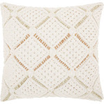 Macrame Diamonds Square Throw Pillow - Mina Victory