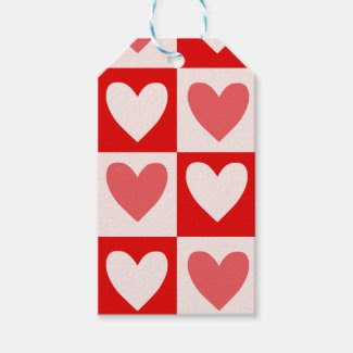 Gift Tags with Heart Pattern Pack Of Gift Tags