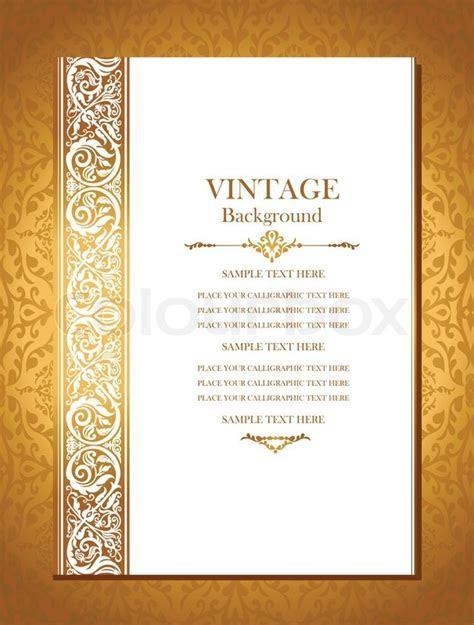 Vintage royal background, antique, victorian gold ornament