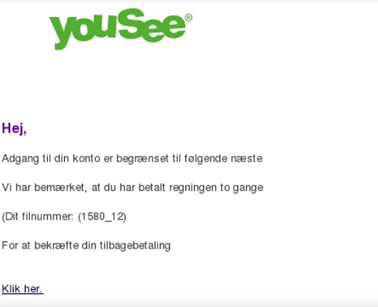 Yousee Phising - Falske Yousee mails - IT-blogger