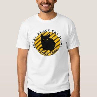 Feral Black Cat Wine Since 1991 T-Shirt