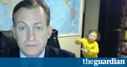 BBC interviewee interrupted by his children live on air – video | Media | The Guardian