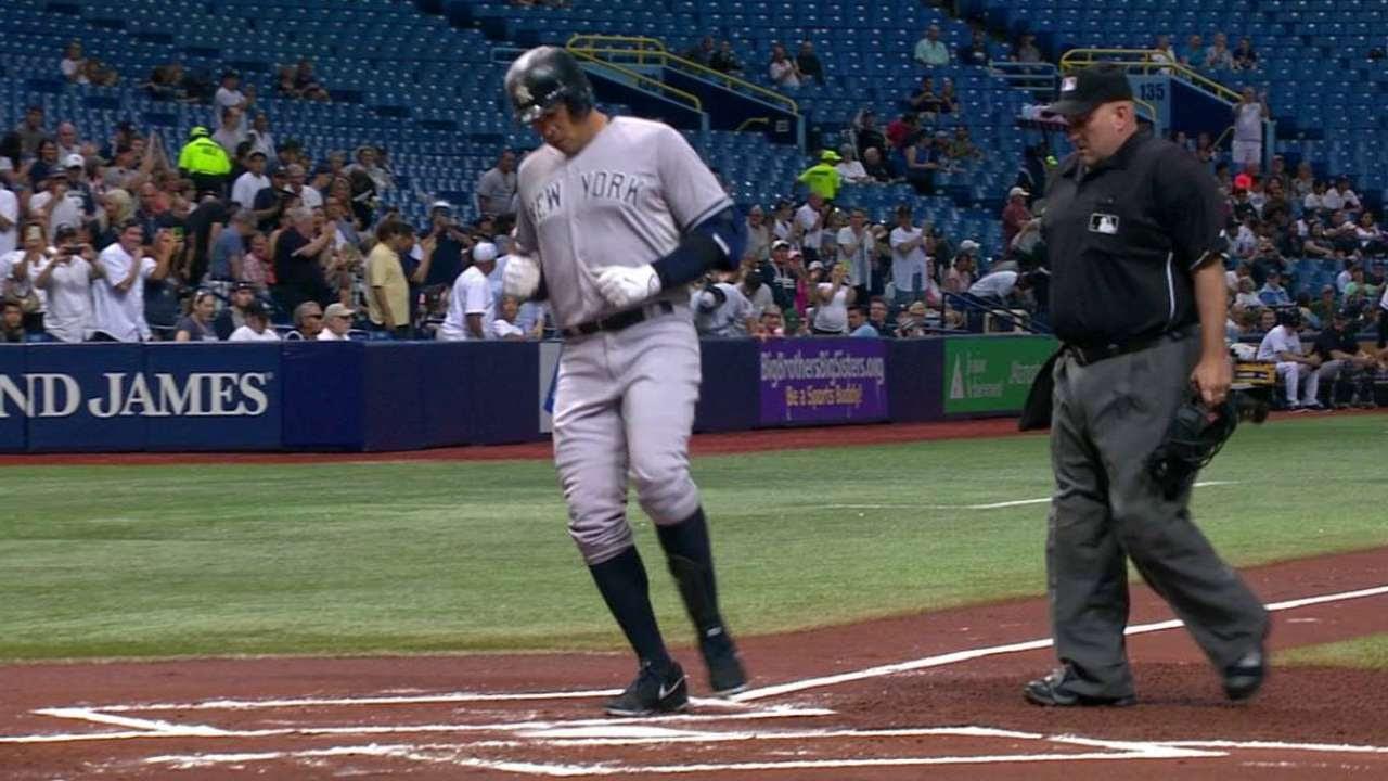 Rays caen víctimas de cinco jonrones de Yankees