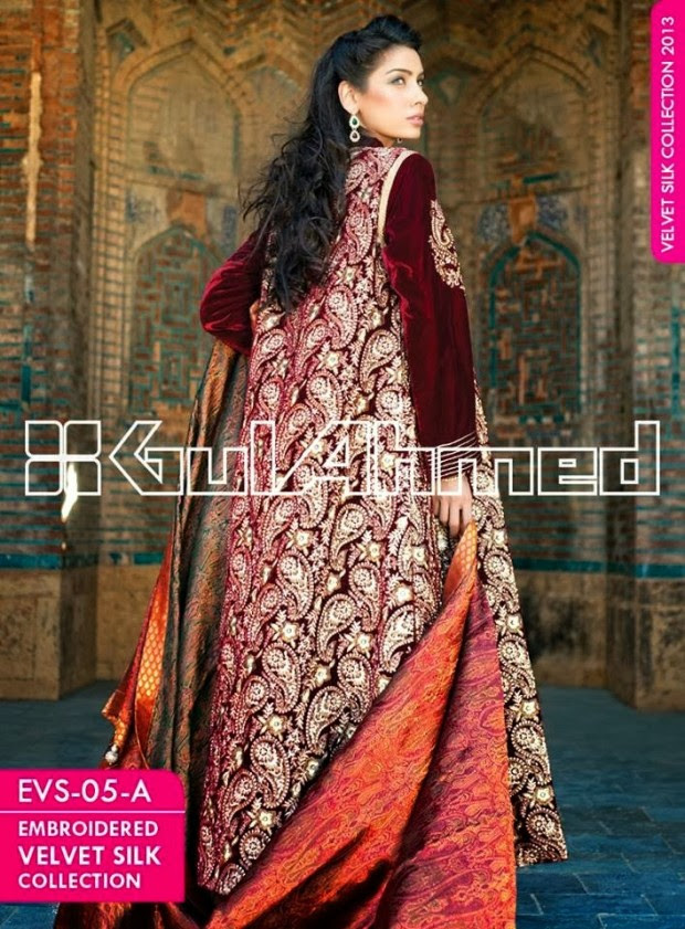 Mens-Women-Wear-Beautiful-Embroidered-Silk-Velvet-Long-Coats-by-Gul-Ahmed-New-Fashion-10