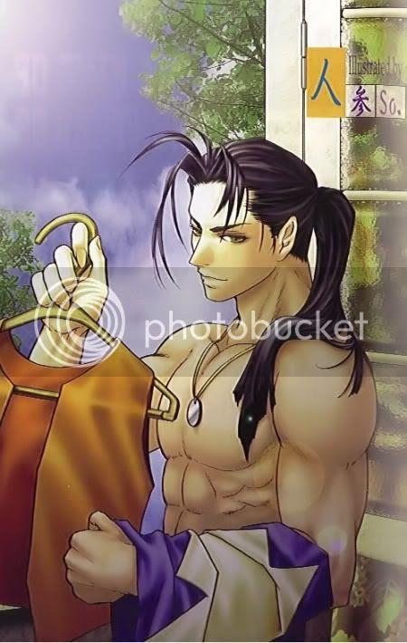 anime boy with long black hair. Anime Boy with long black hair