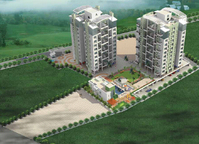 Balaji Generosia Baner Pune 411045 - Elevation Layout from Club House with 2 approach roads