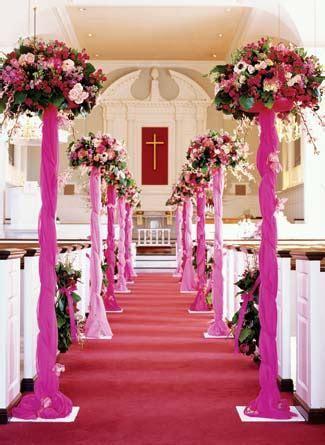 wedding aisle decorations   Wedding Latest Decor In Church