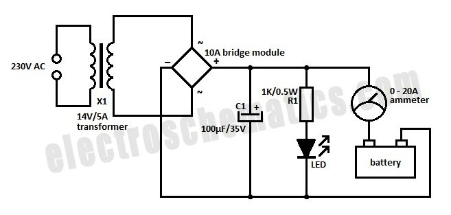 12v 10 amp battery charger circuit diagram