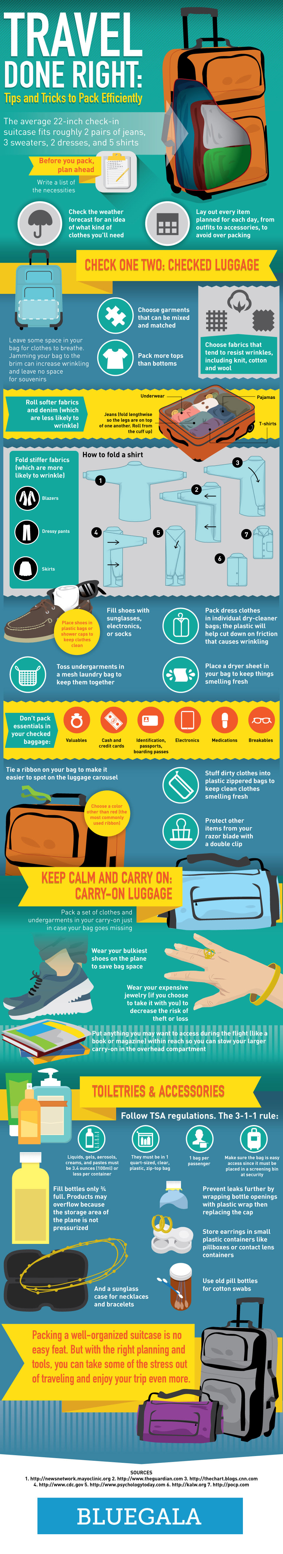 Infographic: Travel Done Right: Tips And Tricks To Pack Efficiently