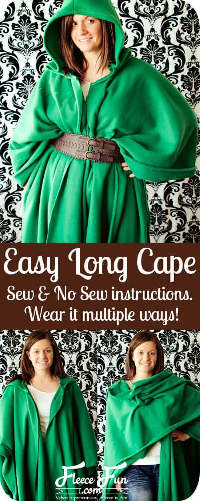 Free Long Cape Pattern by  www.fleecefun.com