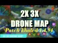 2x 3x Drone View Map MLBB Patch 1.4.94  LATEST