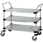 Quantum Storage WRC-2442-3G 3 Solid Shelf Mobile Utility Cart - 24 x 42 in.