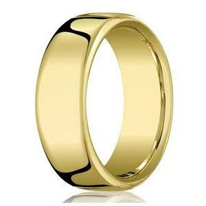 7.5mm Designer Heavy Fit 14k Yellow Gold Wedding Ring for