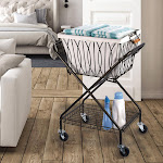 Artesa Verona Laundry Cart with Removable Basket