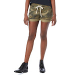 Alternative Ladies' Lounge Burnout French Terry Shorts-CAMO-XS