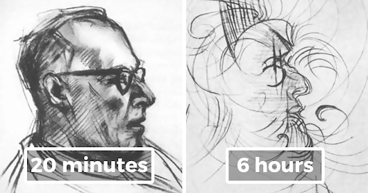 In 1950s Experiment Artist Used LSD And Drew The Same Portrait For 8 Hours To Show How It Affects Brain