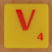 Scrabble Simpsons Letter V