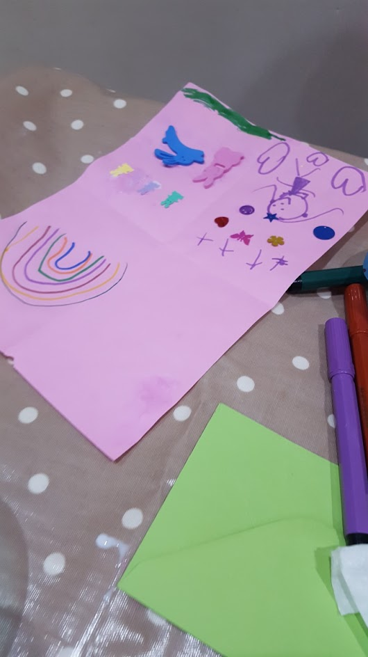 Easy peasy card making activity