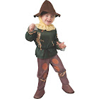 Morris Costumes Toddler Wizard of Oz Scarecrow Costume, British Racing Green/Golden Brown/Yellow