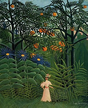 Henri Rousseau Femme se promenant