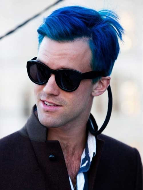 15 Guys with Blue Hair | The Best Mens Hairstyles & Haircuts