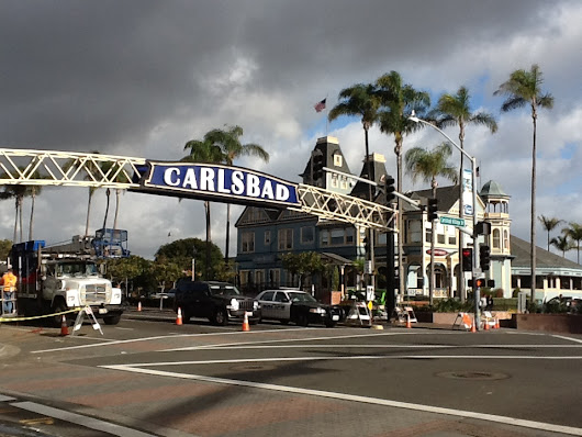 New Carlsbad Sign Goes Up Over Highway 101