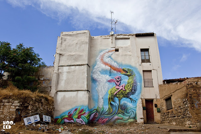 Street Art Mural, Ron English work in Tudela, Spain