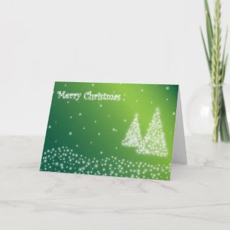 merry christmas green greeting card card