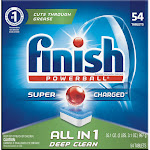 Finish Powerball All-in-1 Dishwasher Detergent Tabs - 54ct, Size: 54 Count