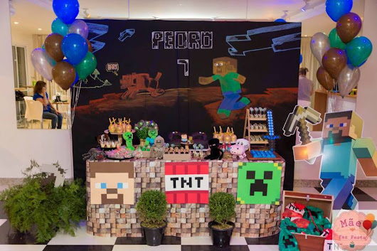 Modern Minecraft Birthday Party - Birthday Party Ideas & Themes