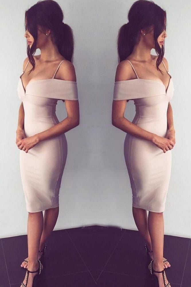 Off the shoulder bodycon prom dress next day