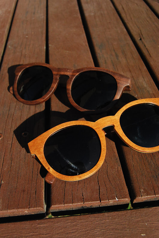Ethical and sustainable wooden sunglasses by Coral Tree - tortoise & lady grey