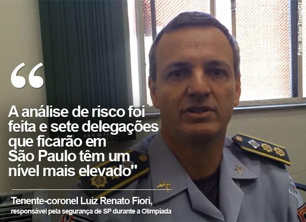 enente-coronel Luiz Renato Fiori, responsável pela segurança de São Paulo durante a Olimpíada (Foto: Kleber Tomaz/G1)