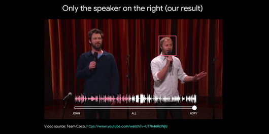 Google works out a fascinating, slightly scary way for AI to isolate voices in a crowd