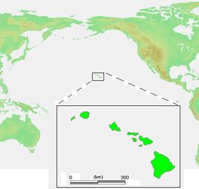 Hawaiian Islands location