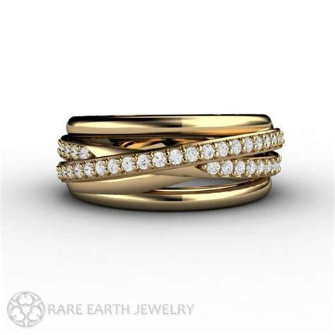 Diamond Ring Triple Band Multi Band Rolling Ring by RareEarth