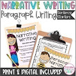 Narrative Writing Sentence Stems Starters, Personal Narrative, Fall, ANY Topic
