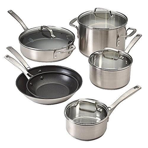 Calphalon Stainless Cookware Set Kitchen Essentials 174 By