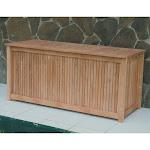 Outdoor Royal Teak 53 in. 80-Gallon Storage Deck Box