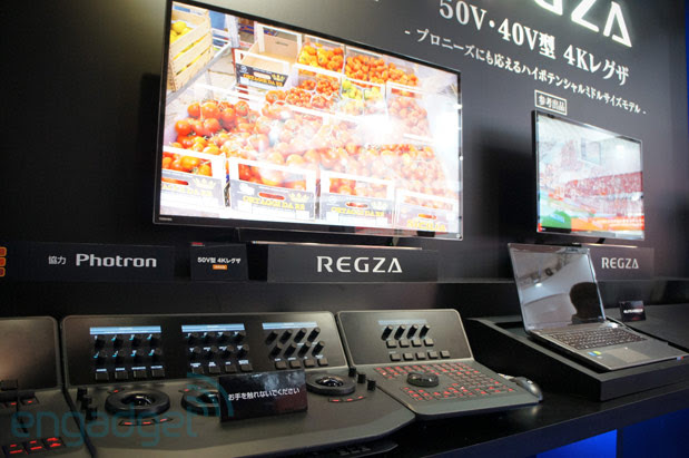 Toshiba's concept REGZA 40V and 50V 4K HDTVs double as a prograde reference monitor