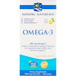 Nordic Naturals Omega-3 Lemon Flavored 120 Softgels