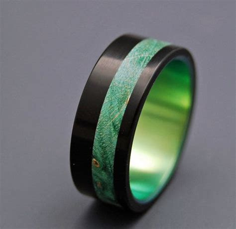 Black rings, Wooden Wedding Rings, titanium ring, titanium