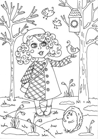 spring with butterfly flower and rainbow coloring page  free coloring pages online