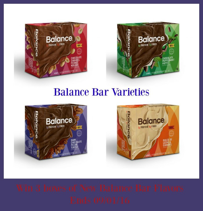 Enter the Balance Protein Bars Giveaway. Ends 9/1