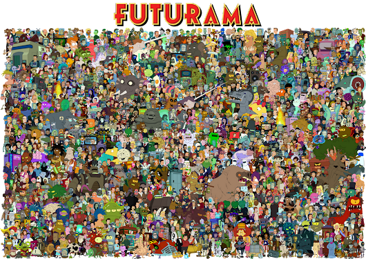 The cast of Futurama by Unrellius on deviantART